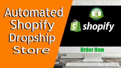 Create automated shopify dropship store