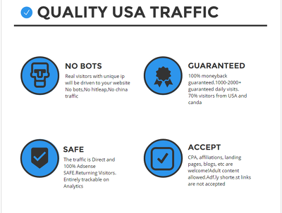 Send 10000 quality USA traffic to your website