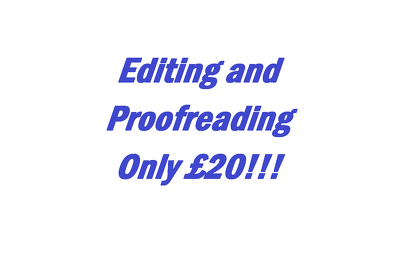 Proofread and edit up to 5,000 words