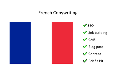 French copywriting (500 words) (French native) SEO, CMS, Blog