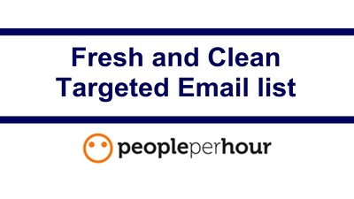 Give you 100,000  fresh and clean Targeted Email list
