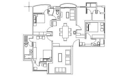 Provide 2D floor plan of any kind of building