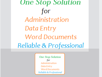 Do any kind of data entry work for 1 hrs typing work/ extraction