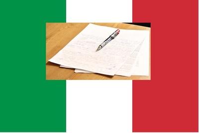 Proofread one hour Italian audio or video transcript