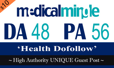 """Write and publish UNIQUE Guest Post on """"Medicalmingle"""" DA-48"""