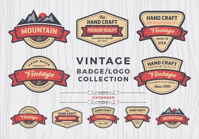 Design Unique Retro Vintage Badge Logo, Unlimited Revisions