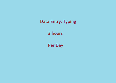 Do all type if data entry work for 3 hours