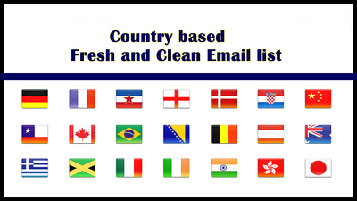 Give you 100,000 Country Based Email list