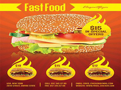Do Attractive Fast Food And Resturant Menu