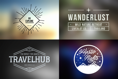 Create a stylish hipster logo