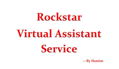 Be your rockstar virtual assistant for 1 hour