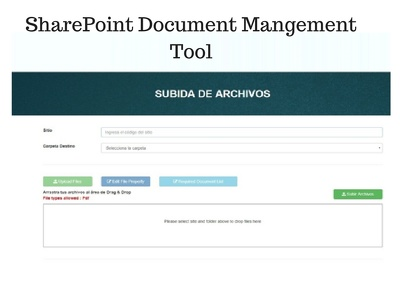 Develop Custom SharePoint Web Part - Document Management Tool