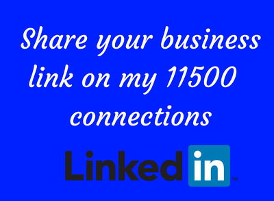 Share your link on my LinkedIn profile (up to 11500 connections)