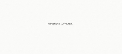 Write a 500 word research article