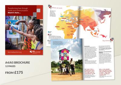 Design a 12-page brochure