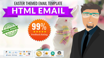 Easter themed HTML email Newsletter