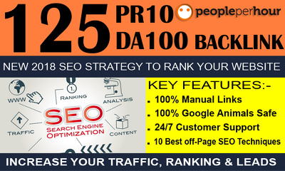 Skyrocket Your Google Ranking With 125 Manual WHITE SEO Backlink