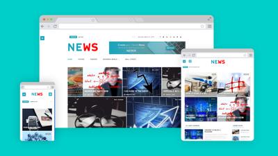 Setup and design a news or blog website