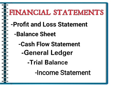 Prepare Financial statements: BalanceSheet,Profit&Loss Statement