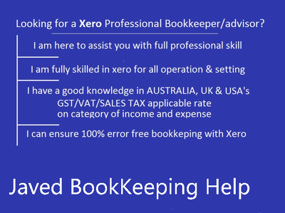 Be your XERO BookKeeper and Consultant