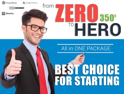 "Design & Develop website ""from ZERO to HERO"", Get more CLIENTS!"