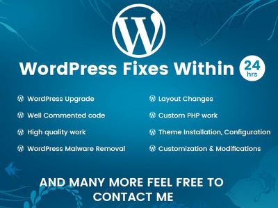 Fixed any WordPress Issues.