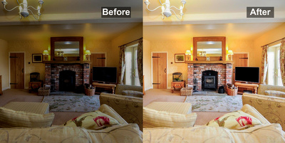 Enhance your 10 real estate photos in 8€ and other Photoshop edi