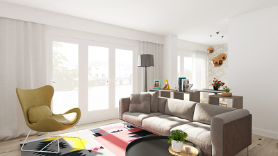 Professional 3d interior photorealistic rendering visualisations