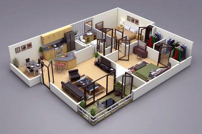 Create A 3D Floor Plan Model From Sketch/2D Floor Plan