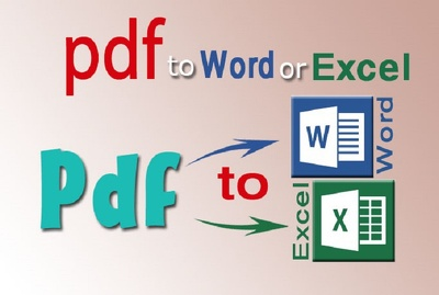 Convert PDF Files to Word/Excel format upto 12 pages in 24 hours