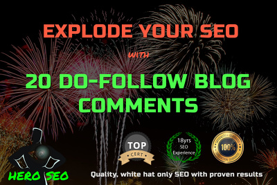 Boost your SEO with 20 Do-Follow blog comments