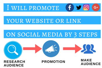 Promote your website or link on social media