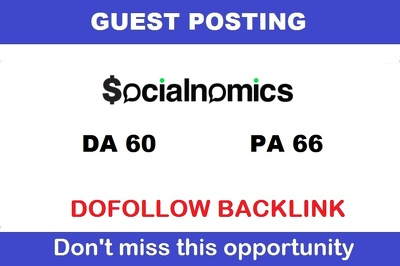 Write And Publish Guest Post On Socialnomics Da 63