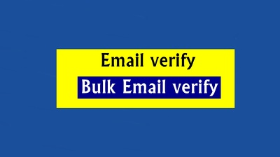 Verify your 100k dirty Email list
