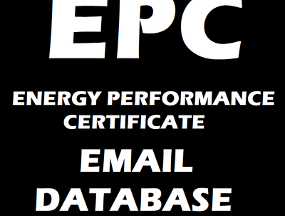 Provide a full EPC email data list / database.