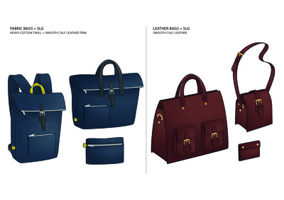Create a Bag/Accessories CAD Clean Sketch and Colour - up