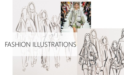 Draw a fashion/beauty/lifestyle illustration