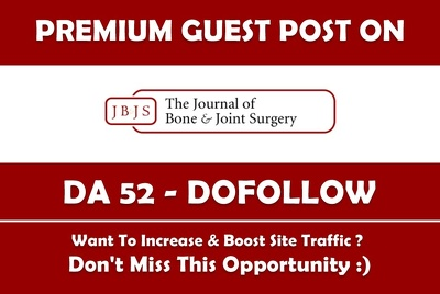 Write & Publish Premium Guest Post on jbjs.org.uk - DA 52