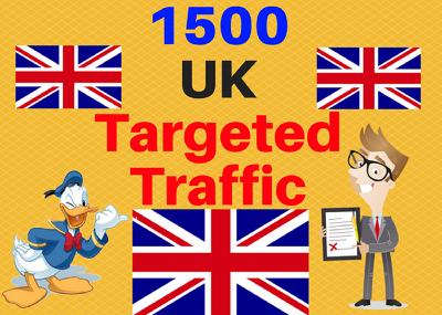 1500 UK TARGETED traffic to your website or blog adsense safe