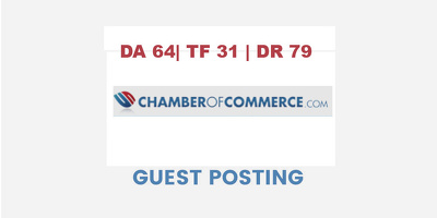 Publish a guest post on Chamber of Commerce  -  DA64, TF31, DR79