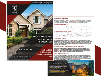 Make your real estate two page Flyer
