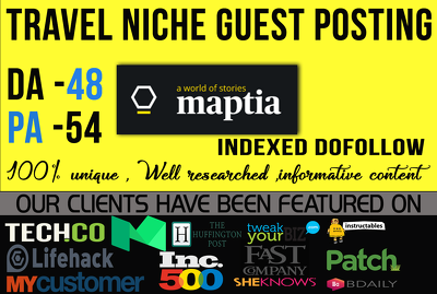 Publish Guest post on Maptia. com [Discount offer]