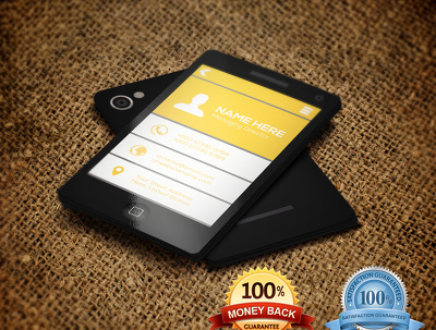 Design e smart phone style business card