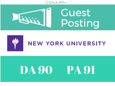 Publish Guest/Blog Post New York University - NYU.edu DA 90