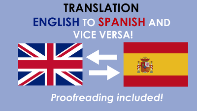 Translate 1000 words from Spanish to English & Vice Versa