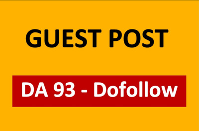 Guest Post on DA 93 sites with dofollow backlinks (100% indexed)