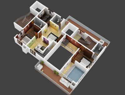 Realistic 3D floor plans