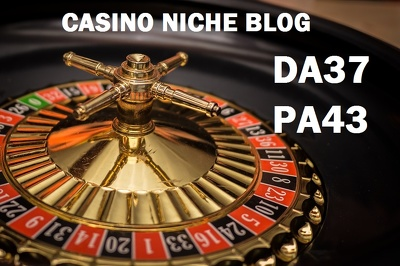 Guest post on Casino niche DA37 blog