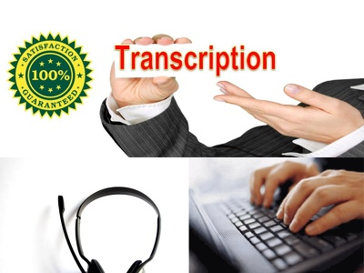 Do  10 min. transcription & 10-15 page typing.
