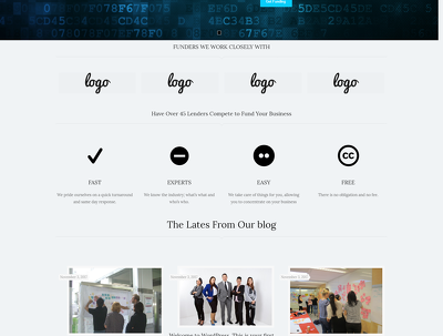 Design creative wordpress website